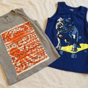 2 Piece Gymboree Sleeves Graphic Tees Size 4T